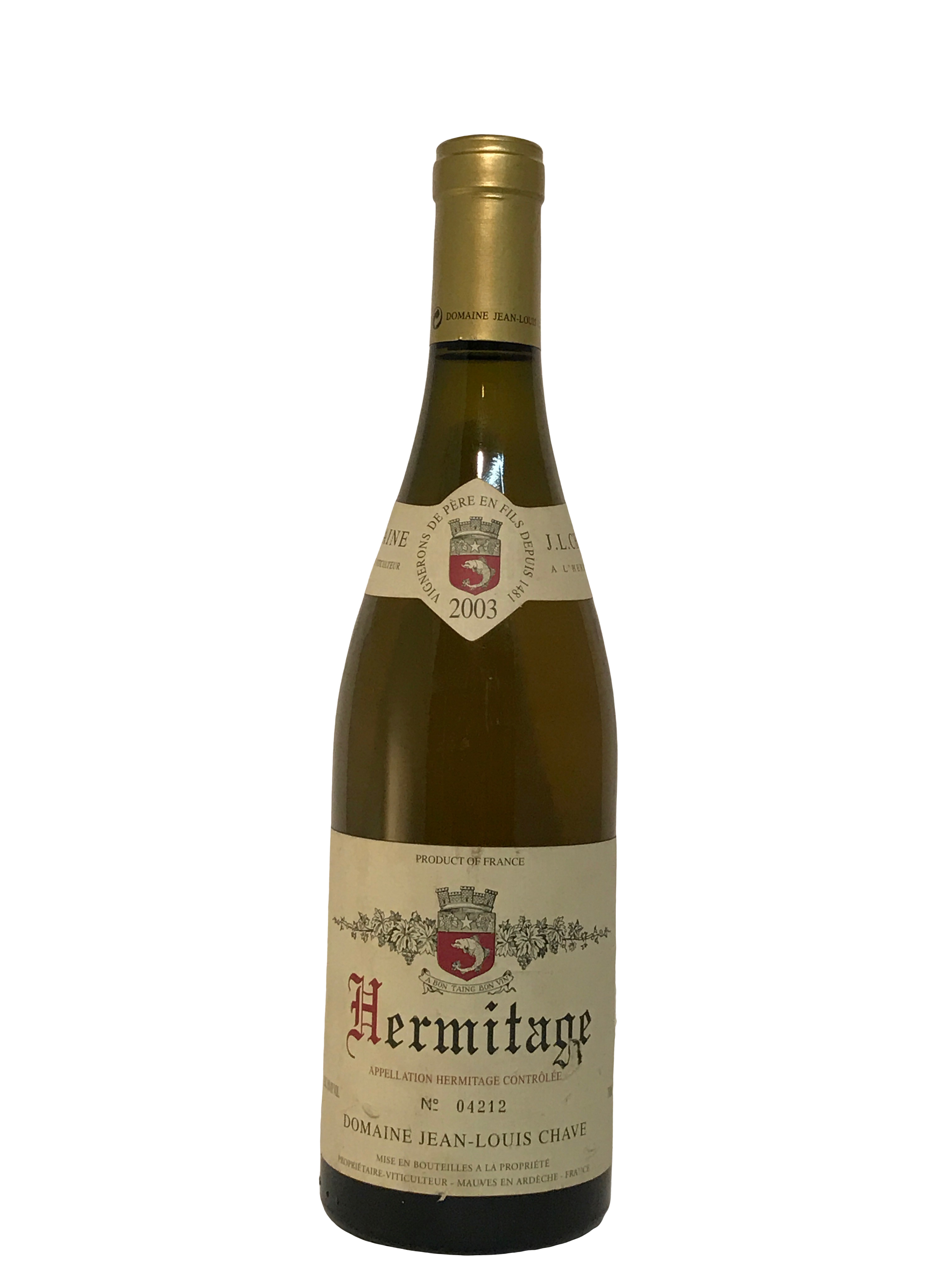 Domaine Jean-Louis Chave Blanc – Hermitage 2003