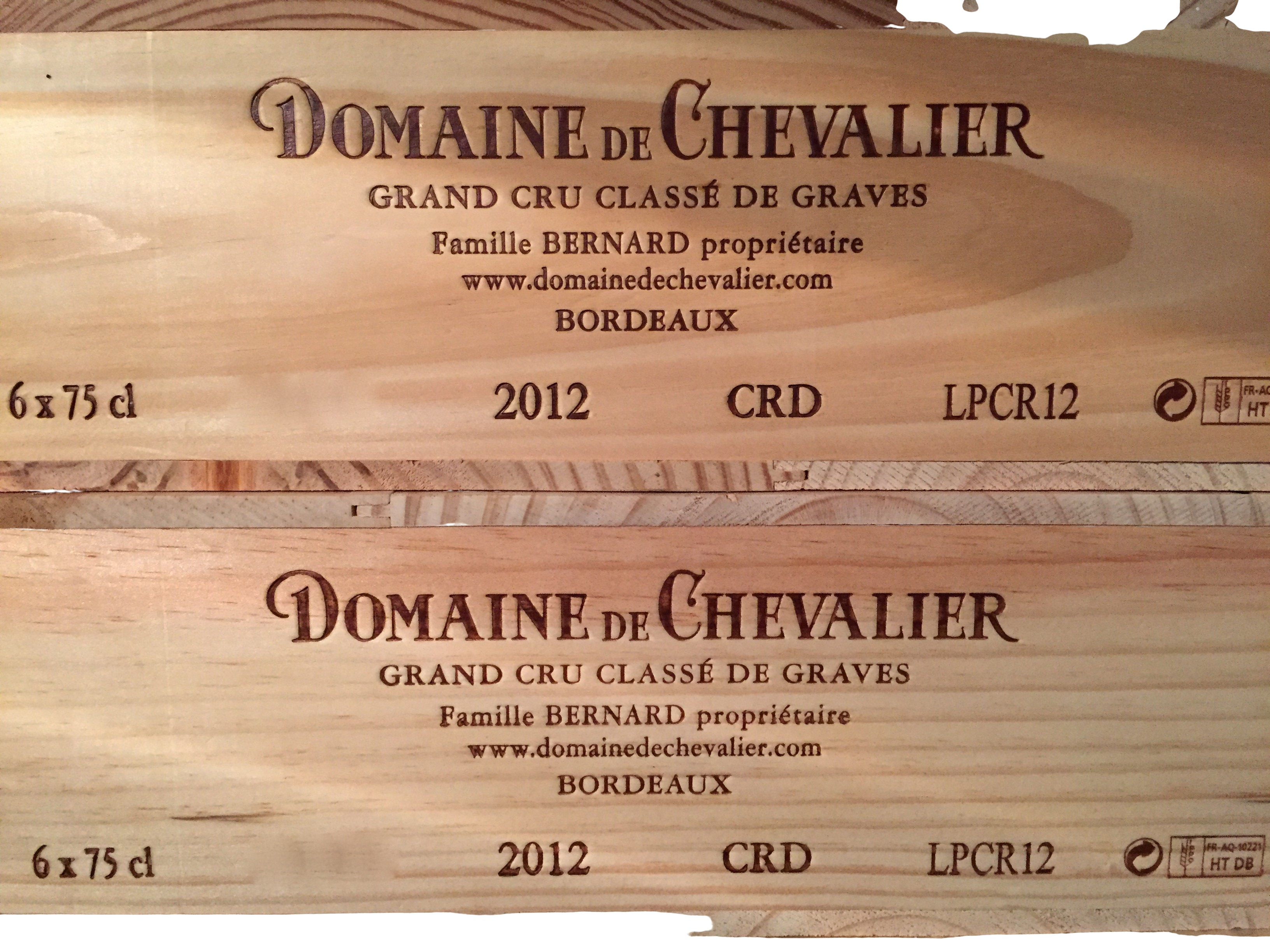 Domaine De Chevalier blanc 2012 (CBO 6)