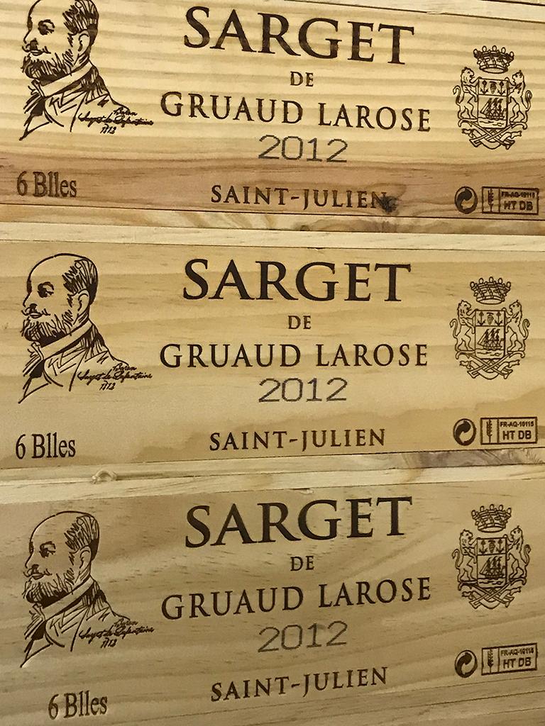 Sarget de Château Gruaud Larose 2012 (CBO 6)