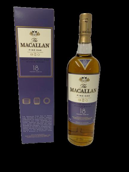 Whisky MACALLAN – Single Highland – Fine OAK – Triple cask matured – 18 years old