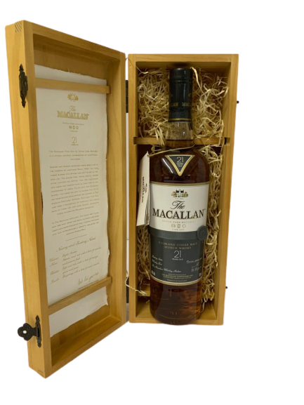 Whisky MACALLAN – Single Highland – Fine OAK – Triple cask matured – 21 years old – Coffret bois